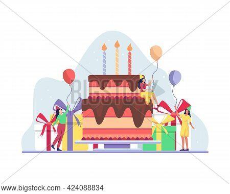 Happy Birthday Party Celebration With Friend