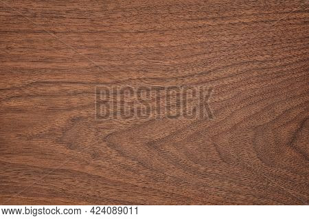 Dark Wood Texture In Walnut Color. Empty Surface Rustic Table Background. Mahogany Wood Texture. Bro