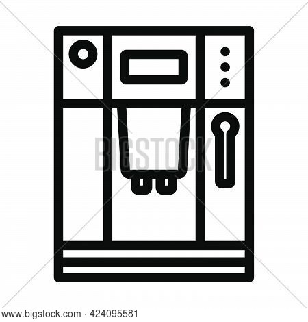 Kitchen Coffee Machine Icon. Bold Outline Design With Editable Stroke Width. Vector Illustration.