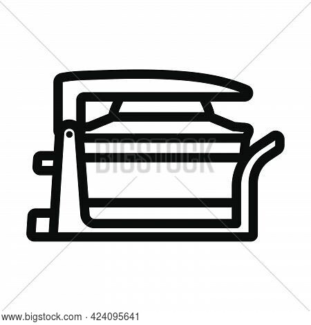 Electric Convection Oven Icon. Bold Outline Design With Editable Stroke Width. Vector Illustration.
