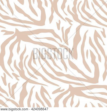 Zebra  Abstract  African  Beautiful  Seamless Pattern  In Different Colors In Cartoon Flat Style. Mo