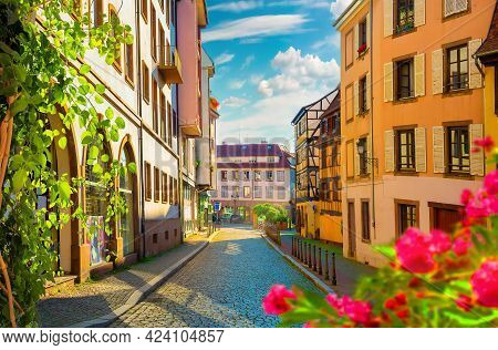 Street Of Strasbourg In The Morning, France