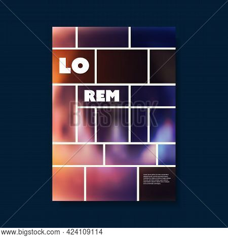 Modern Style Flyer Or Cover Design For Your Business With Colorful Blurry Gradient Shapes - Template