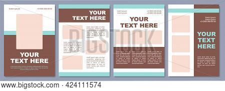 Corporate Brochure Template. Sales Stimulating. Flyer, Booklet, Leaflet Print, Cover Design With Cop
