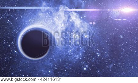 A Black Hole In Outer Space, Abstract Science Fantasy Deep Stars Of Universe, Elements Of This Image