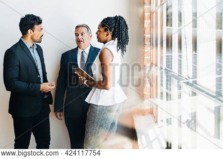 Business people planning on a solar business