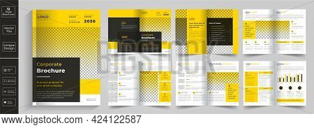 Corporate Theme 12 Pages Business Company Profile Brochure Design,12 Pages Creative Business Brochur