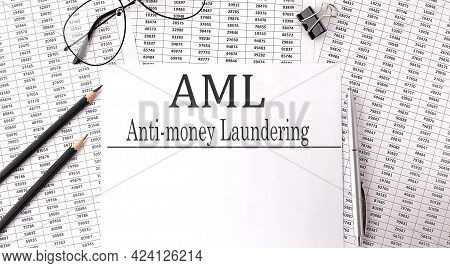 Paper With Anti-money Laundering Aml On The Chart