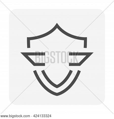 Shield Vector Design. That Simple Shape Of Icon, Sign Or Symbol. Concept For Safety,  Protect And Se