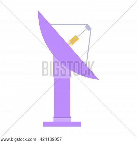 Satellite Dish Technology Vector Illustration Communication Radio Television. Satellite Dish Signal
