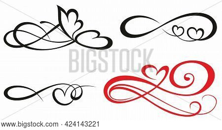 Sign Of Infinity. Sign On Postcard To Valentine S Day, Tattoo, Print.