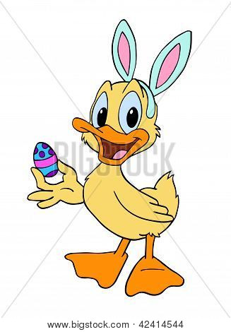 Easter Bunny Duckling