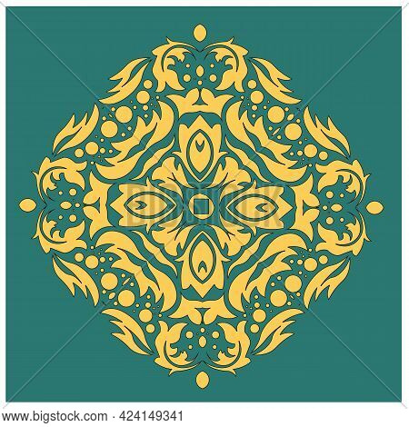 Vector Damask Patterns For Greeting Cards And Wedding Invitations. Vector Illustration