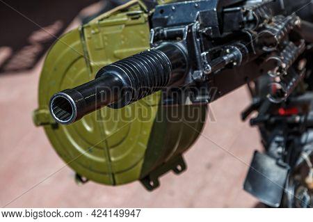 Russian Machine-automatic Grenade Launcher Ags-17, Blurred Background, Close-up.automatic Grenade La
