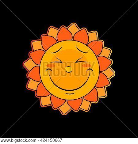 Sun Icon, Summer Sun Weather Symbol, Vector