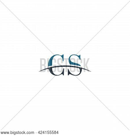 Initial Letter Cs, Overlapping Movement Swoosh Horizon Logo Company Design Inspiration In Blue And G