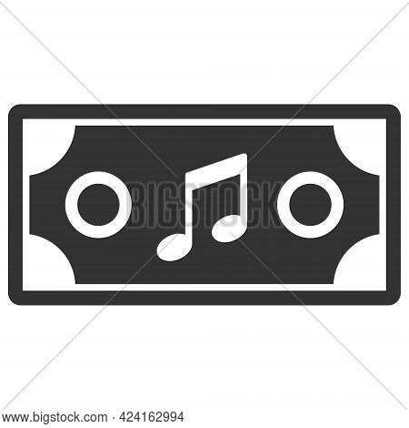 Concert Ticket Icon With Flat Style. Isolated Raster Concert Ticket Icon Illustrations, Simple Style