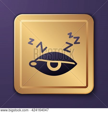 Purple Insomnia Icon Isolated On Purple Background. Sleep Disorder With Capillaries And Pupils. Fati