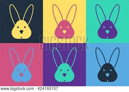 Pop Art Animal Cruelty Free With Rabbit Icon Isolated Pop Art Background. Vector