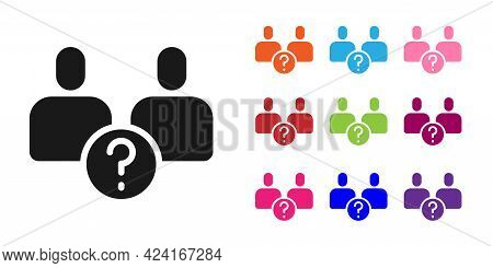 Black Complicated Relationship Icon Isolated On White Background. Bad Communication. Colleague Compl