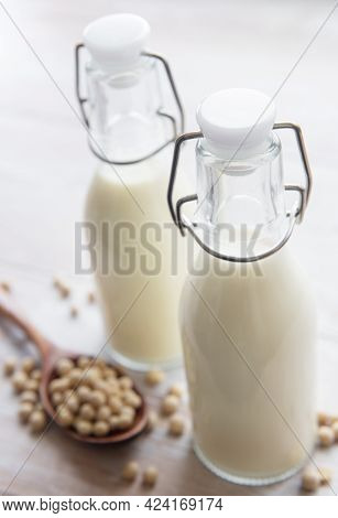 Soy Milk And Soy On The Table
