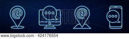 Set Line Location And Mail And E-mail, Location And Mail And E-mail, Chat Messages Notification On M