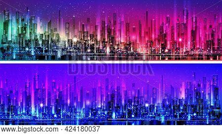 Cityscape Urban Scene Modern Scenic Skyline Skyscraper Concept