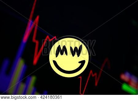 Grin Grin Cryptocurrency. Coin Growth Chart On The Exchange, Chart