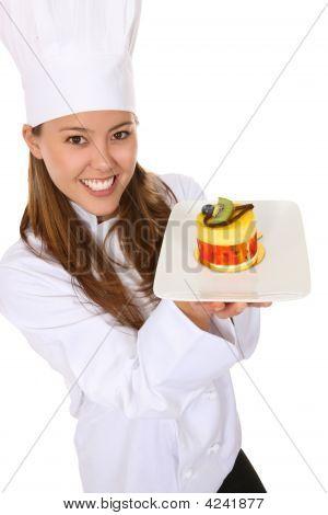 Pretty Chef Cooking Dessert