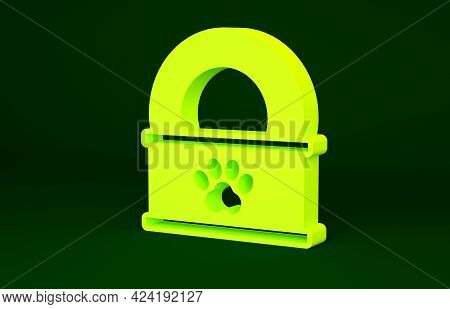 Yellow Canned Food Icon Isolated On Green Background. Food For Animals. Pet Food Can. Minimalism Con