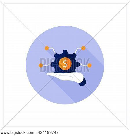 Infrastructure Asset Management Flat Icon. Hand Keeps Asset.integrated, Multidisciplinary Strategies