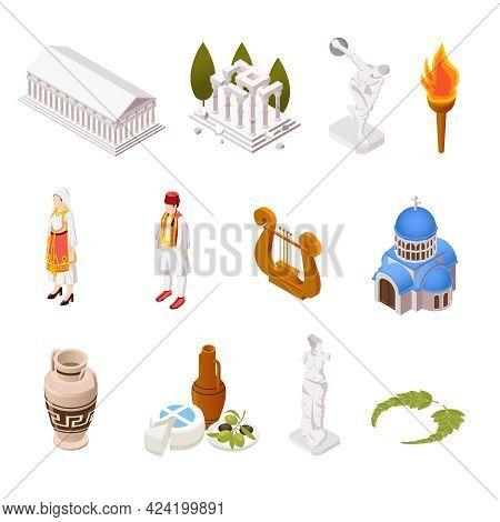Greece Culture Food Architecture Landmarks Parthenon Acropolis Temple Pottery Antique Sculpture Isom