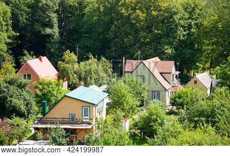 Residential District In Kaliningrad, Russia. Summer, Day. .
