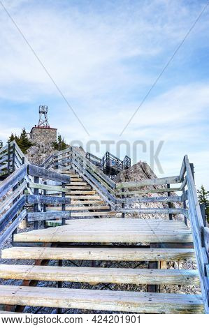 Remnants Of The Historic Cosmic Ray And Old Weather Station Atop Sulphur Mountain On Sanson's Peak I