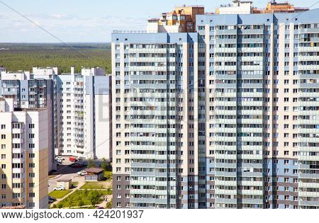 Residential District In The Saint Petersburg, Russia.summer.