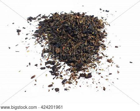 Moroccan Tea In Bulk. Aerial View Of Organic Fresh Herbal Mint Tea Tea. Ground Dried Leaves For Flav