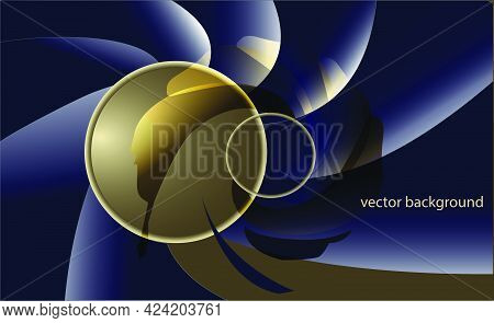 Film Style Background. The Interpreted Spiral, Black And Gold, Reminds Me Of The Exploits Of Super A