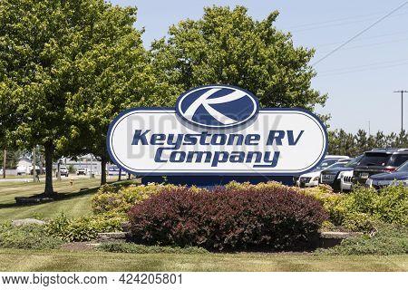 Goshen - Circa June 2021: Keystone Rv Company Headquarters. Keystone Rv Is A Subsidiary Of Thor Indu