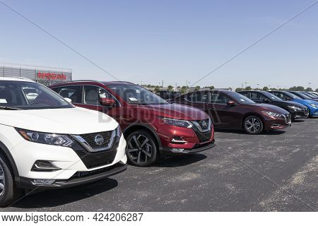 Warsaw - Circa June 2021: Nissan Rogue Suv Display. Nissan Is Part Of The Renault Nissan Alliance.