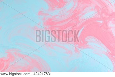 Colorful Flowing Painting Pigment, 3D Rendering.