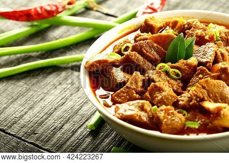 Arabian, Arabic Meal. Homemade Mutton Curry, Roast, Chops.