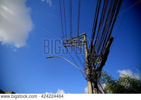 Exposed Wiring On Electrical Network Pole