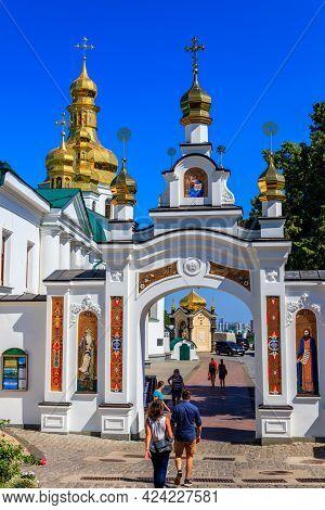 Kiev, Ukraine - August 24, 2019: View Of The Kiev Pechersk Lavra, Also Known As The Kiev Monastery O