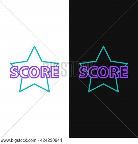 Line Star Icon Isolated On White And Black Background. Favorite, Score, Best Rating, Award Symbol. C
