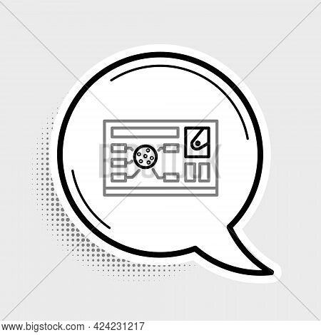 Line Futuristic Hud Interface Icon Isolated On Grey Background. Hologram Ui Infographic, Interactive