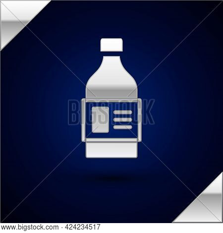 Silver Plastic Bottle For Laundry Detergent, Bleach, Dishwashing Liquid Or Another Cleaning Agent Ic