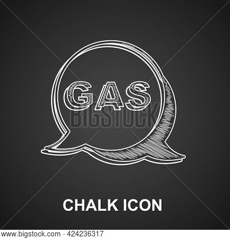 Chalk Location And Petrol Or Gas Station Icon Isolated On Black Background. Car Fuel Symbol. Gasolin