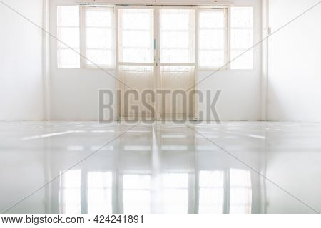 White Room Area, Wrought Iron Door Pattern In The Middle Of The Room