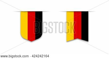 Flag Of Deutschland. Label Flag Icon, Checkbox Sign. Flags Of The World. Vector Illustration
