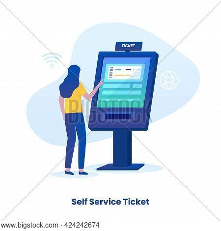 Self Ticketing Service Illustration Concept